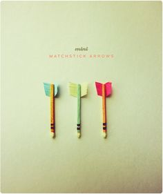 How to make mini matchstick arrows