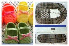 Luty Artes Crochet: Sapatinhos de bebê.