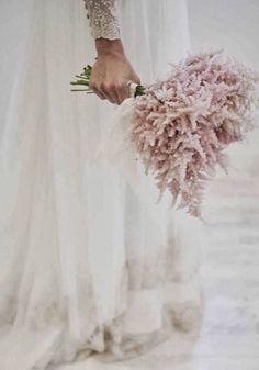 Ramo de novia de astilbe