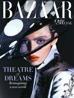 Model Rubina Dyan is styled by Anna Castan in 'Theatre of Dreams',fashion with flourish lensed by Greg Swales for Harper's Bazaar Arabia May Grazia Magazine, V Magazine, Magazine Covers, Elle Spain, Vogue Spain, Vogue Korea, Melodie Monrose, Brand Campaign, Haute Couture Dresses