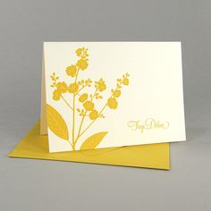 Positive and negative space is well balanced in this card. I also like the use of only two colors for the card and envelope set.