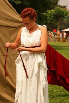 De romerske kvinders klædedragt