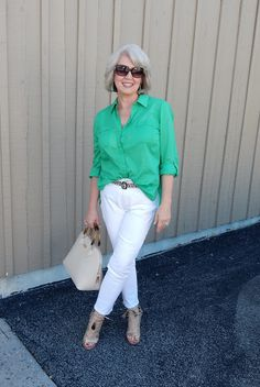 I wore this basic outfit to work yesterday, except the top was navy...Fifty, not Frumpy: Average Day