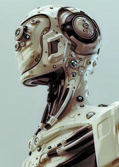 Futuristic robotic man by Ociacia on deviantART via PinCG.com