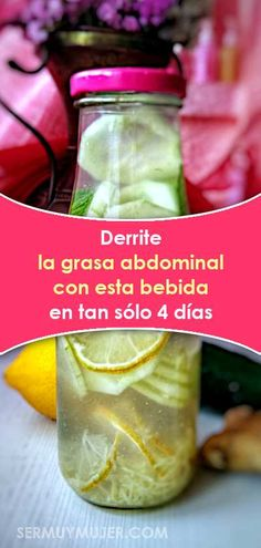 Derrite la grasa abdominal con esta bebida en tan sólo 4 días Abdominal Fat, Healthy Tips, Cucumber, Detox, Vegan, Meals, Vegetables, Fitness, Food