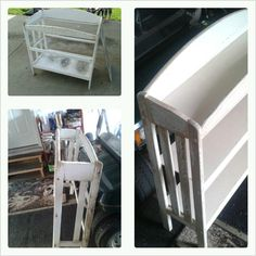 Old baby changing table .. Now a home for my books ..