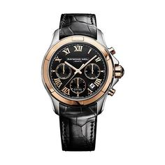RAYMOND WEIL PARSIFAL AUTOMATIC CHRONOGRAPH LEATHER STRAP WATCH £2995