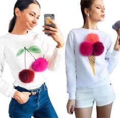 EMBELLISH:  pom pom cherries or ice cream