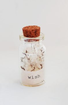 Wish dandelion bottle charm by radiosonggirl on Etsy, $13.00