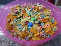 One of our teens helped me plan a lesson on Noah's Ark. For the snack, she wanted to do a colorful snack mix to tie into the rainbow theme. We included M&Ms, Cheez-Its, Chex Mix, Fruit …