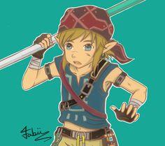 Link the Legend of Zelda Breath of The Wild Bandanna version #climb ~