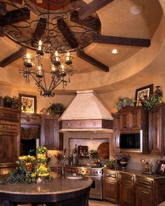 Ceiling Design Ideas -- Old world ceiling treatment
