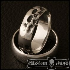 Tripple Hiroshima Skull Band by CustomRingsPL on Etsy
