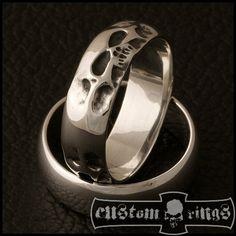 Tripple Hiroshima Skull Band by CustomRingsPL on Etsy