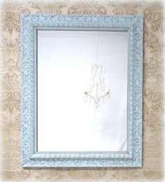 Decorative vintage mirrors for sale french teal green for Decorative bathroom mirrors sale
