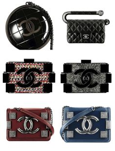 billidollarbaby:  Chanel Fall/Winter 2013 Bag Collection View the complete collection  Chanel baggage.