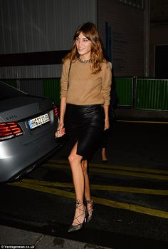 Girls' night out:IT girls Alexa Chung, Cara Delevingne, Daisy Lowe and Laura Bailey chose to have a more laid back evening as they were pictured enjoying a girls only dinner date on Monday