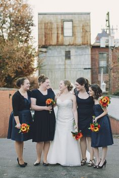 Tim + Lindsay - Brooke Courtney Photography / navy white wedding inspiration / bridesmaids /  bride / flowers / bouquet / city wedding /