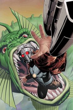 Star-Lord vs Fin Fang Foom Guardians of the Galaxy Marvel Marvel Villains, Marvel Characters, Marvel Heroes, Comic Book List, Comic Book Covers, Star Lord Comic, American Carnage, Xena Warrior, Guardians Of The Galaxy