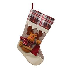 628 Gaosaili Plaid Border Christmas Stockings