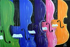 A personal favorite from my Etsy shop https://www.etsy.com/listing/397976195/rainbow-of-violins-painting-8x10-print