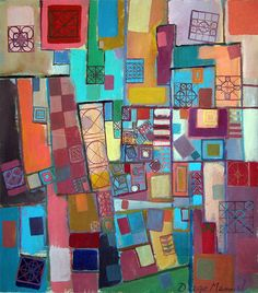 Pisos del palacio, acrylic on canvas,. Abstract painting by Diego Manuel Rodriguez. Fine Art