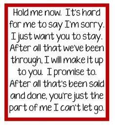 im sorry love songs