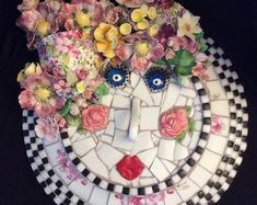 Dinner For One Person Fancy - Dinner Mosaic Art Projects, Mosaic Crafts, Mosaic Ideas, Mosaic Designs, Mosaic Patterns, Craft Projects, Mosaic Garden, Garden Art, Glass Garden