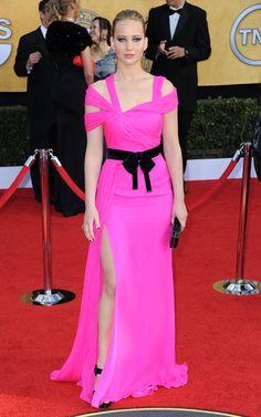 Oscar de la Renta - Style Crush: Jennifer Lawrence on the Red Carpet - Photos