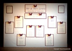 #Butterfly themed #Wedding #SeatingPlan #Brides