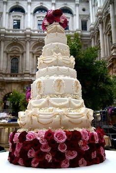 Massive wedding cake