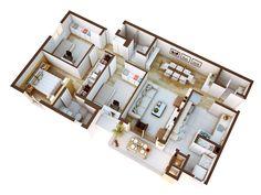Planta Apartamento Tipo 3D