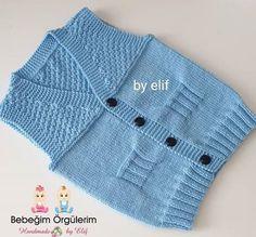 2 yas-erkek-bebek-tm-aciklamali-kolay-yelek Baby Knitting Patterns, Odd Molly, Hairstyle Trends, Balmain, Moda Emo, Tulum, Diy Tutorial, Winter Hats, Air Max