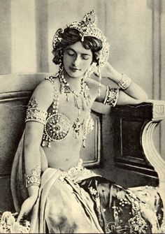 """Margaretha Geertruida """"M'greet"""" Zelle McLeod, better known by the stage name Mata Hari, was a Dutch exotic dancer, courtesan, and accused spy who was executed by firing squad in France under charges of espionage for Germany during World War I."""