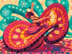 Mexican Graphic Design, Graphic Art, Mexican Designs, Mexican Artwork, Character Art, Character Design, Arte Sci Fi, Posca Art, Art Watercolor