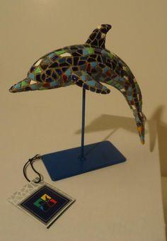 "Barcino Designs Trencadis Spanish Mosaic 6"" Dolphin Figurine on Stand 09270 | eBay"