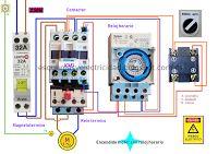 Esquemas eléctricos: Encendido motor con reloj horario