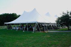 Huge tent deck for receptions at Hancock Shaker Village