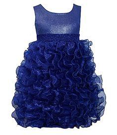 Siennah Luz  Bonnie Jean 2T6X Sleeveless CascadingRuffleSkirt Dress #Dillards