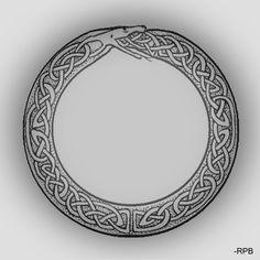 celtic style ouroboros