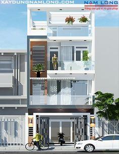 Thiết kế nhà đẹp 4 tầng NL85 (Anh Hạnh Thủ Đức)