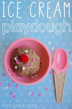 2 Ingredient Ice Cream Playdough. This easy homemade playdough recipe is a perfect kids' activity for summer!