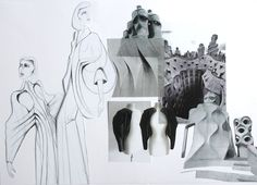Fashion Sketchbook - fashion drawings, development & design progression; fashion student portfolio // Jegor Pister: