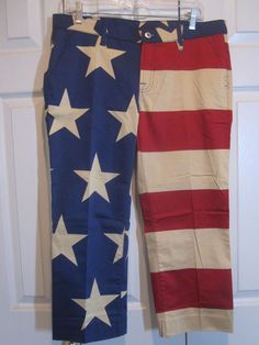 Loudmouth golf women's capri pants Old Glory Stars and Stripes Size 10 NWT #Loudmouth #CaprisCropped