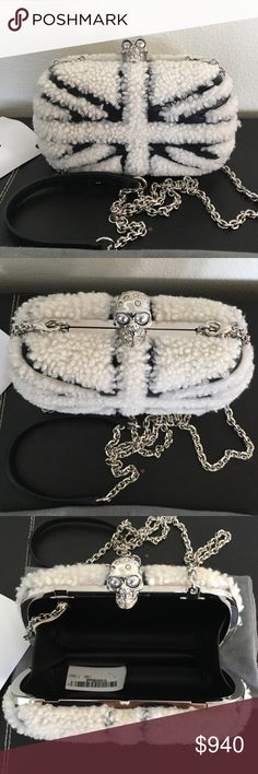 Alexander McQueen Clutch Authentic and new. Dust bag included. Removable shoulder strap. Alexander McQueen Bags Clutches & Wristlets