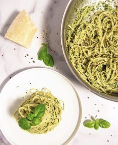 This creamy pesto pasta sauce made from scratch is the perfect way to use your growing basil plants! #pesto #pestopasta #creamypesto #pastarecipe Pesto Sauce For Pasta, Creamy Pesto Pasta, How To Make Pesto, How To Cook Pasta, Panna Recipe, Cooking With Fresh Herbs, Vegetarian Recipes, Cooking Recipes, Easy Cooking