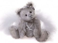 Twinkle Toes Angel Bear, Minimo Collection - MM614889D  7 inches tall, created in mohair, jointed. Limited Edition of 2000 pieces