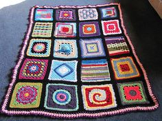 Ravelry: costumer47's Maria's Crazy Quilt 'ghan
