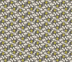MAMMOTH_GREY_YELLOW fabric by glorydaze on Spoonflower - custom fabric