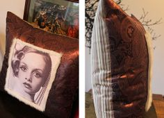 Twiggy Cushion from theGreenSuitcaseCo My Furniture, Twiggy, Suitcase, Cushions, Portrait, Unique, Green, Painting, Design